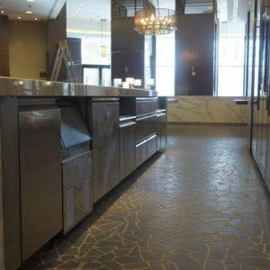 Специализированное кухонное оборудование для HoReCa. Отель Hilton 5*, ресторан «All Dining Restaurant», Киев. На фото кухня ресторана по проекту Profitex.