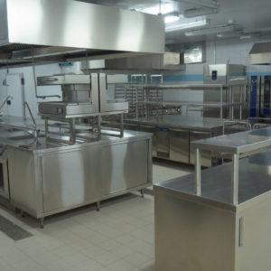 Проектирование ресторана согласно технологическому заданию компанией Profitex. Отель Hilton 5*, ресторан «All Dining Restaurant», Киев. На фото кухонное оборудование Electrolux Professional.