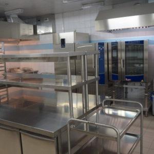 Комплексная поставка оборудования для профессиональной кухни ресторана. Отель Hilton 5*, ресторан «All Dining Restaurant», Киев. На фото кухонное оборудование Electrolux Professional.