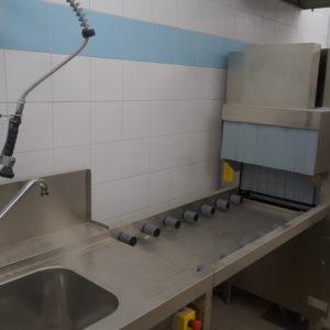 Посудомоечное оборудование для заведений HoReCa. Отель Hilton 5*, ресторан «All Dining Restaurant», Киев. На фото туннельная посудомоечная машина Electrolux Professional.