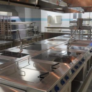 Комплексная поставка оборудования для профессиональной кухни ресторана. Отель Hilton 5*, ресторан «All Dining Restaurant», Киев. На фото тепловой технологический остров TermaLine Electrolux Professional.