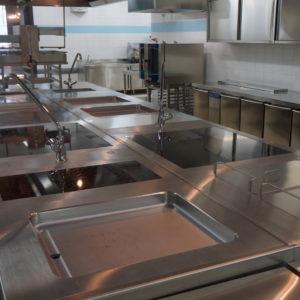 Подбор и установка профессионального оборудования для ресторана и бара. Отель Hilton 5*, ресторан «All Dining Restaurant», Киев. На фото тепловой технологический остров TermaLine Electrolux Professional.