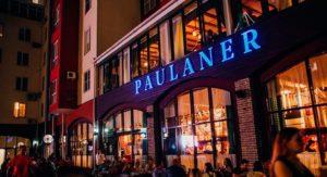 Специализированное оборудование для ресторана, кафе, пивной, бара. Ресторан & пивоварня «Paulaner». На фото вход в ресторан.