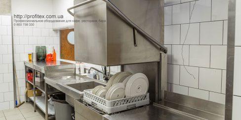 Профессиональное посудомоечное оборудование для ресторанов, баров, кафе, столовых. Ресторан CICADA Kitchen & Wine Bar, Украина, Днепр. На фото купольная посудомоечная машина Modular.