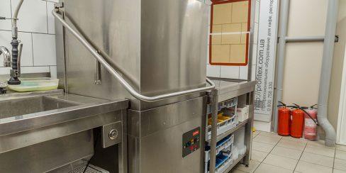 Посудомоечные машины профессиональные промышленные для HoReCa. Ресторан CICADA Kitchen & Wine Bar, Украина, Днепр. На фото купольная посудомоечная машина Modular.