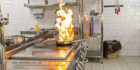 Оборудование для ресторанов, кафе и предприятий общественного питания. Ресторан CICADA Kitchen & Wine Bar, Украина, Днепр. На фото электрическая плита со сплошной варочной поверхностью Modular.