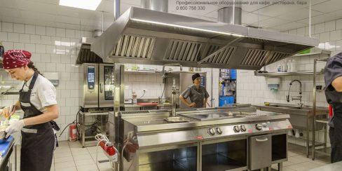 Комплексная поставка оборудования для профессиональной кухни ресторана, кафе, бара, фастфуда. Ресторан CICADA Kitchen & Wine Bar, Украина, Днепр. На фото тепловое модульное оборудование Modular (островная единица), пароконвекционная печь Rational.