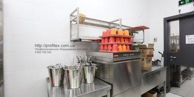 Профессиональное посудомоечное оборудование для отелей, гостиниц. Отель Ibis Вокзал, Украина, Киев. На фото посудомоечная машина с фронтальной загрузкой DW 51 DT L/DD MODULAR Италия.