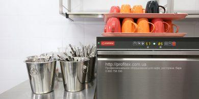 Посудомоечные машины для интенсивного использования на кухне. Отель Ibis Вокзал, Украина, Киев. На фото посудомоечная машина с фронтальной загрузкой DW 51 DT L/DD MODULAR Италия.