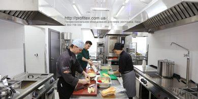 Полный ассортимент профессионального оборудования для ресторана и бара от Profitex Украина. Отель Ibis Вокзал, Украина, Киев. На фото кухня ресторана с оборудованием MODULAR Италия.