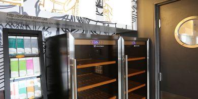 Холодильное оборудование для бара, ресторана, кафе. Отель Ibis Вокзал, Украина, Киев. На фото шкаф холодильный для вина Tecfrigo Италия.