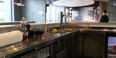 Барное оборудование в наличии и под заказ от Profitex Украина. Отель Ibis Вокзал, Украина, Киев. На фото холодильные столы MODULAR Италия.