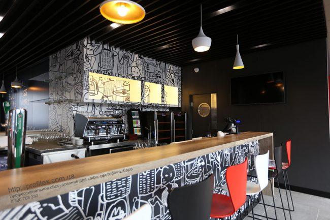 Профессиональное барное оборудование от Profitex Украина. Отель Ibis Вокзал, Украина, Киев. На фото оборудование MODULAR, Wega, Tecfrigo.