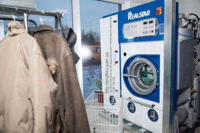Промышленные машины химической чистки одежды. Химчистка Аквачистка BOLLA, Украина, Киев. На фото машина химчистки REALSTAR США 12 кг.