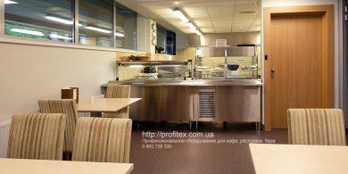Профессиональное оборудование для ресторана, бара, кафе, закусочной. Отель Semarah Lielupe, Латвия, Юрмала. На фото оборудование линии раздачи и самообслуживания.