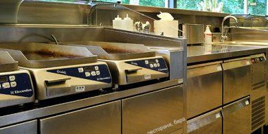Комплексная поставка оборудования для ресторана, бара и кафе от Profitex Украина. Отель Semarah Lielupe, Латвия, Юрмала. На фото холодильное оборудование MODULAR Италия, гриль Electrolux Professional DRLH Италия.