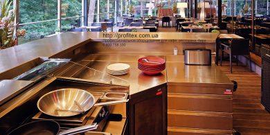 Профессиональное оборудование для бара и ресторана при отеле и гостинице. Отель Semarah Lielupe, Латвия, Юрмала. На фото индукционная плита Electrolux Professional Италия, оборудование MODULAR Италия.