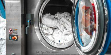 Оборудование JENSEN для коммерческой прачечной. Индустриальная прачечная. На фото профессиональная стиральная машина JENSEN JWE 110/250.