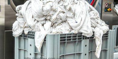 Промышленная прачечная под ключ. Индустриальная прачечная. На фото профессиональные стиральные машины JENSEN JWE 110/250.