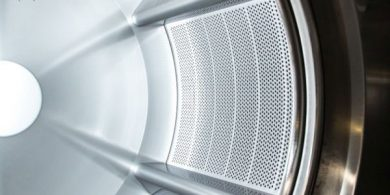 Купить прачечное оборудование JENSEN. Индустриальная прачечная. На фото барабан профессиональной стиральной машины JENSEN JWE 110/250.