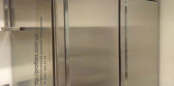 Холодильное оборудование для объектов общественного питания. Институт Клеточной Терапии, Украина, Киев. На фото холодильные шкафы INFRICO Испания 7 класса с эко хладагентом 290.