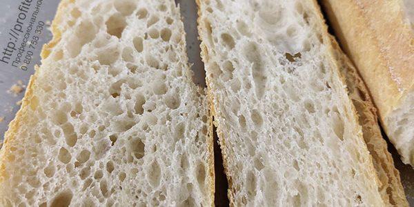 Оборудование для пекарен и производства хлебобулочных изделий. Пекарня Коперше, Украина, Киев. На фото багет из ассортимента пекарни.