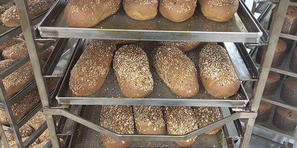Подбор, установка и сервисное обслуживание оборудования для мини-пекарни и кондитерской. Пекарня Коперше, Украина, Киев. На фото тележки шпильки для противней, производство Украина.