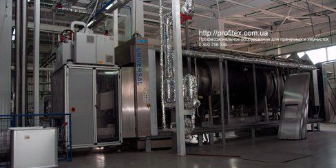 Прачечное оборудование для промышленной прачечной и химчистки. Промышленный прачечный комплекс БЛЕСК, Украина, Киев. На фото туннельная стиральная машина JENSEN Universal Германия.