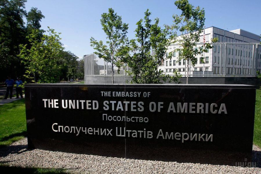 Оснащение кухни профессиональным ресторанным оборудованием. Посольство США, Украина, Киев. На фото здание посольства.