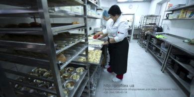 Комплект профессионального оборудования для мини пекарни. Кафе-пекарня «Chef's Bakery Пекарня от шефа», Украина, Сумы. На фото нейтральное кухонное оборудование от PROFITEX.