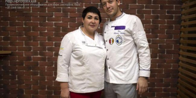 Пекарня под ключ от PROFITEX. Кафе-пекарня «Chef's Bakery Пекарня от шефа», Украина, Сумы. На фото бренд шеф пекарь PROFITEX Вита Козар и шеф повар ресторана Reber bar Вадим Рачок.