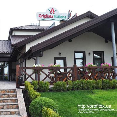 Профессиональное оборудование для кухни ресторана, бара, кафе от PROFITEX. Ресторан Grigliata Italiana, трасса Одесса-Киев. На фото здание ресторана.